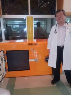 北海道釧路地方の診療所に設置された津波シェルターCL-HIKARi004