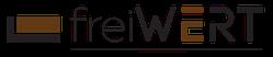 Logo freiWERT - die Manufaktur für iPhone Ladestationen in Holz und Beton