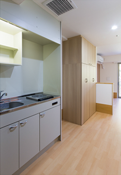 個室キッチン
