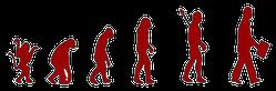 Menschenkenner-Mkt. Blitzgarden Cartoon: Evolution