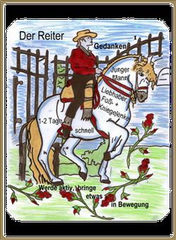Lenormandkarte Reiter