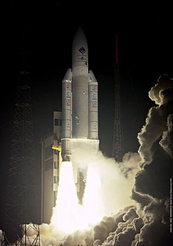 Ariane-Start am 02.03.2004 mit der Raumsonde Rosetta an Bord (Quelle: ESA/CNES/ARIANESPACE-Service Optique CSG, 2004) .....