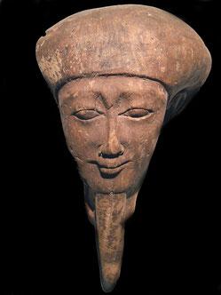 Maschera in legno, Egitto prob.   760-330 a.C