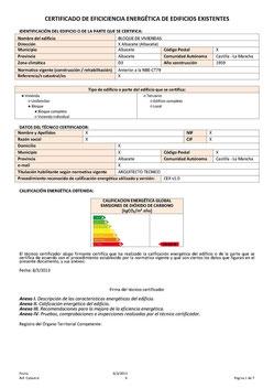 Certificado Energético. Ejemplo