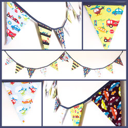 Zoom vehicle themed bunting cars planes helicopter fire engines racing fabric flags banner garland birthday party decor boys bedroom nursery gift