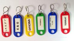 Pon etiquetas en cada llavero - www.AorganiZarte.com