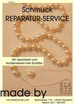 Ela Eis Design fädelt und knotet Ihre Perlenkette oder Edelstein Schmuck.