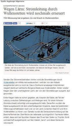 Quelle : Augsburger Allgemeine Zeitung
