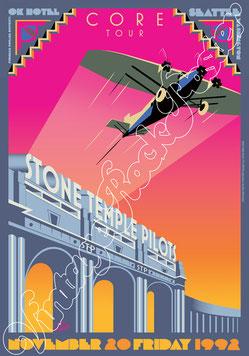 stone temple pilots, stone temple pilots poster, stone temple pilots concert, grunge music