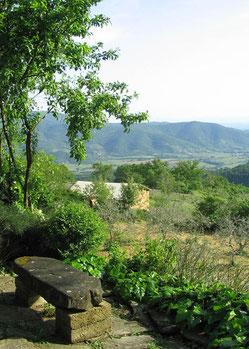 Gartenbank im Toscana Garten