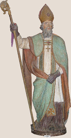 Statue de l'église de Monthuchon Manche