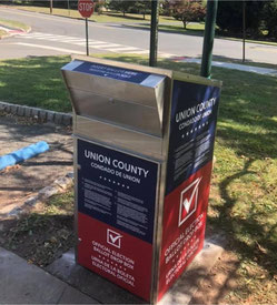 Secure ballot box is located outside Fanwood Memorial Library. Or, drop your ballot in a regular mailbox.