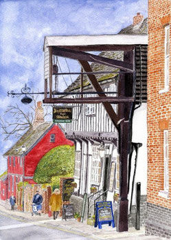 Woodbridge - New Street - Ye Olde Bell and Steelyard