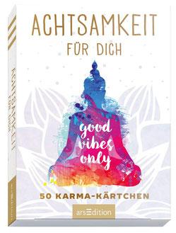Achtsamkeit für dich - 50 Karma-Kärtchen: Schön gestaltete Achtsamkeitskarten in Geschenkbox zur Stressbewältigung im Alltag