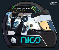 Helmet of Nico Rosberg by Muneta & Cerracín
