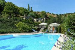 Te huur vakantiewoning voor 6 personen met zwembad in Frankrijk, Pourchères, wifi en honden toegestaan