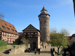 Kaiserburg Nürnberg, Sinwellturm und Vorburg