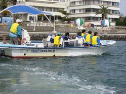 遊覧船による浜名湖案内の様子