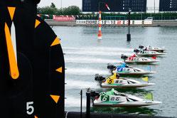 迫力あるボートレース