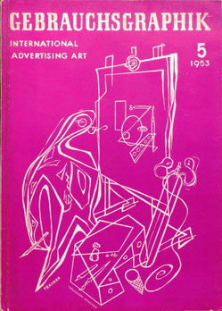 Gebrauchsgraphik - International Advertising Art Ausgabe 5 1953. Am Cover Heinz Traimer.