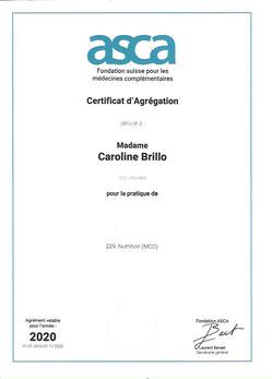 Thérapeute ASCA nutrition