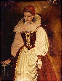 Porträt der Elisabeth Báthory. Unbekannter Künstler