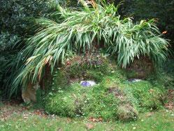 Pflanzenskulptur im Lost Gardens of Heligan