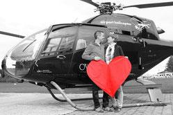 Heiratsantrag beim Helikopterrundflug