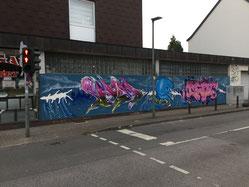 Wand Bochumer Straße Ecke Munscheidstr. Foto: Spunk Gelsenkirchen