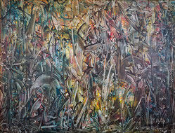 1973 peinture acrylique sur toile 125 x 95