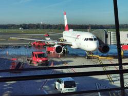 Austrian Airlines am Flughafen Hamburg