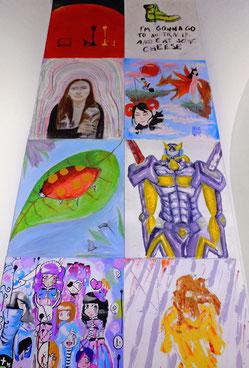 Kunstwerk der 7.0 Talentschmiede der LichtwarkSchule