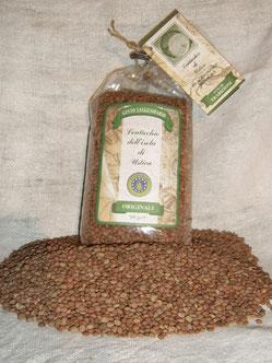Ustica's famous lentil production