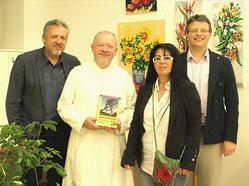 NR aD Werner Groiß, Kräuterpfarrer Benedikt Felsinger, Georgia Kazantzidu, Matthias Laurenz Gräff. Foto Gerhard Baumrucker, NÖN Horn
