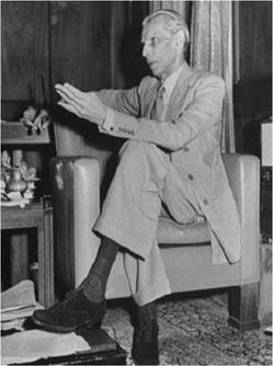 Portrait de Muhammad Ali Jinnah