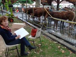 Catherine Dubreuil au festival de l'élevage de Brive la Gaillarde
