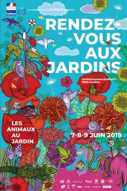 Affiche RDV aux Jardins 2020 - Jardin du Moulin Chéneché