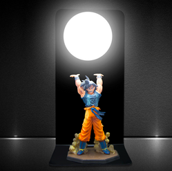 Son Goku, Energiekugel schwebt über seinen Kopf, Manga Lampe