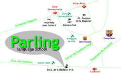 Parling Language School MAP