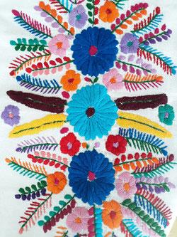 Damenbluse, Tunika, Sommerkleid, Sommertop, Blumentop, Tunika aus Mexiko, Kleid aus Mexiko, besticktes buntes Kleid aus Mexiko, Tunika mit Stickerei aus Mexiko, mexikanische Boho Tunika / Hippie Bluse / Ethno Kleid / Folklor Top