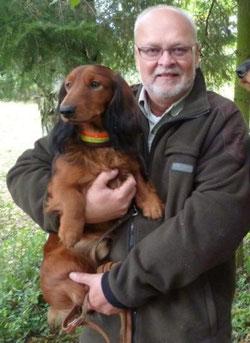 Wasco mit Herrchen Peter Seibert