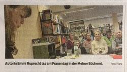 Emmi Ruprecht las am Frauentag in Meiner Bücherei
