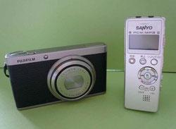 愛用のカメラとICレコーダーです