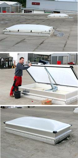 GGS Brandschutz - Einbau einer Rauch- Wärmeabzugsanlage (RWA)