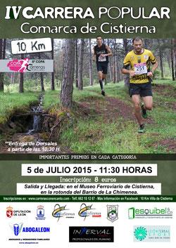 IV CARRERA POPULAR 10 KM. COMARCA DE CISTIERNA - Cistierna, 05-07-2015