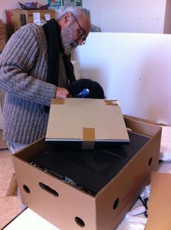 30 décembre 2014 : emballage des ordinateurs à St Lumine de Coutais