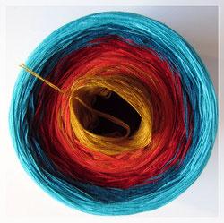 Wolle mit Farbverlauf