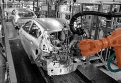 Montageband Automobilproduktion