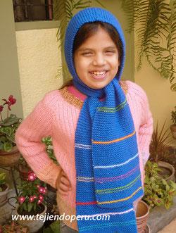 último diseño marca famosa muy bonito Bufanda con capucha - Tejiendo Perú