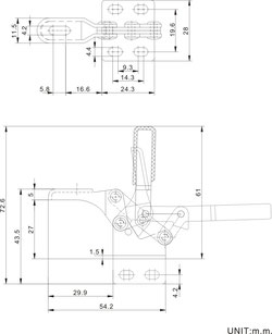 Drawing compact toggle clamp CH-13009 and CH-14009